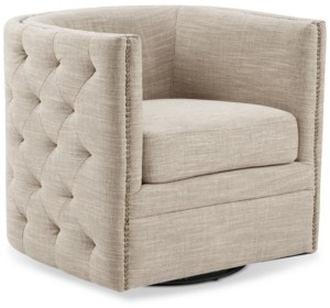 Furniture Catherine Swivel Tufted Chair