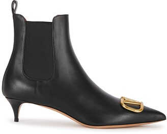 Valentino VLogo 40 black leather ankle boots