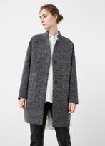 MANGO Cotton Wool-Blend Coat