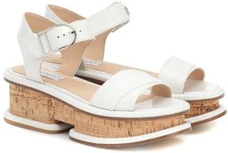 Gabriela Hearst Bradley leather and cork sandals