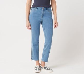 Logo By Lori Goldstein LOGO by Lori Goldstein Straight Leg Jeans with Zipper Detail