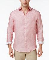 Tasso Elba Men's Textured 100% Linen Long-Sleeve Shirt, Only at Macy's