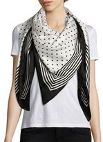 Stella McCartney Stripe & Dot Silk Scarf