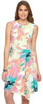 Petite Suite 7 Tropical Floral Fit & Flare Dress
