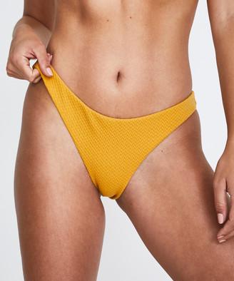 MinkPink Golden Hills High Cut Bikini Bottoms Gold