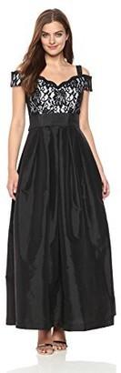 R & M Richards R&M Richards Women's 1 PCE Long Off The Shoulder Bodice Full Skirt Dress