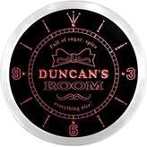 AdvPro Clock ncpe1177-r Duncan's Girl Princess Kids Room Night Light Neon Sign LED Wall Clock