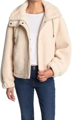 Elodie K A-Line Faux Shearling Jacket