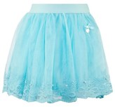 Le Chic Turquoise Tulle and Lace Skirt