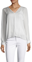 Lucca Couture Split Sleeve High Low Blouse