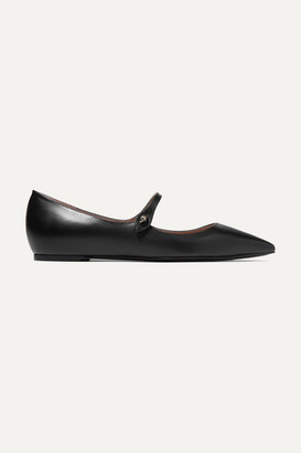 Tabitha Simmons Hermione Leather Point-toe Flats - Black