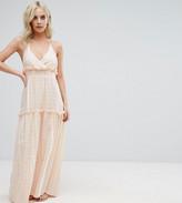 Asos Premium Beach Maxi Dress with High Neck