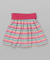 Zutano Hot Pink Stripe Dancing Skirt - Toddler