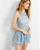 Express Tiered Lace Fit And Flare Dress