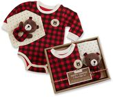Baby Aspen Happy Camper Red Plaid 3-pc. Gift Set