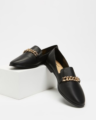 Spurr Women's Black Loafers - Preppy Flats - Size 5 at The Iconic