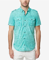 Buffalo David Bitton Men's Silaky Graphic-Print Cotton Shirt