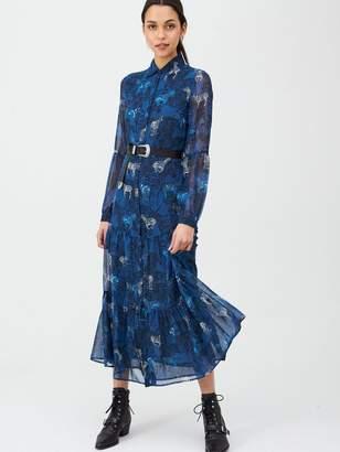Very Tiered Midaxi Dress - Zebra Print