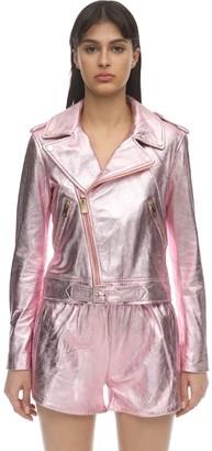 Coco Cloude Lvr Exclusive Metallic Leather Jacket