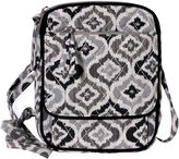 Waverly Black White Ikat Quilted Wos Crossbody Bag