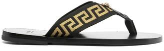 Versace Greca pattern flip flops