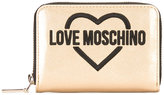 Love Moschino logo print wallet