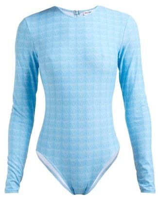 Thorsun Collins Geometric-print Swimsuit - Blue Print
