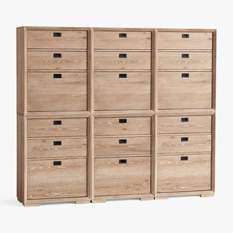 Pottery Barn Teen Callum Triple 3-Drawer Tall Storage Cabinets