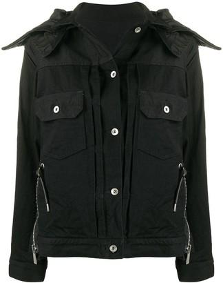 Sacai convertible collar denim jacket