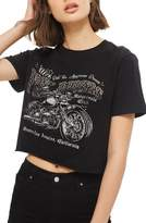 Topshop by Wild Affair Diamante Free Rider Crop Tee