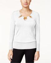 Thalia Sodi Cutout Hardware Sweater, Only at Macy's