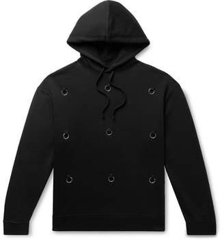 Raf Simons Embellished Fleece-Back Cotton-Jersey Hoodie