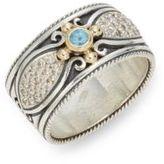Konstantino Aspasia 18K Gold & Sterling Silver Carved Ring