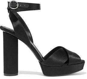 Oscar de la Renta Dasha Satin Platform Sandals