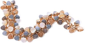 Tamara Comolli Mikado Flamenco 18k Rose Gold Multi-Moonstone Bracelet