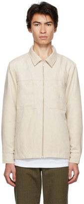 Stussy Off-White Faux-Suede Work Shirt Jacket