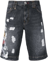 Philipp Plein embroidered tiger shorts - men - Cotton - 31