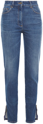Moschino Embellished High-rise Slim-leg Jeans