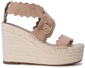 Chloé Laser Cut Wedge Sandals