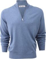 Brunello Cucinelli Bi-Color Half Zip Pullover