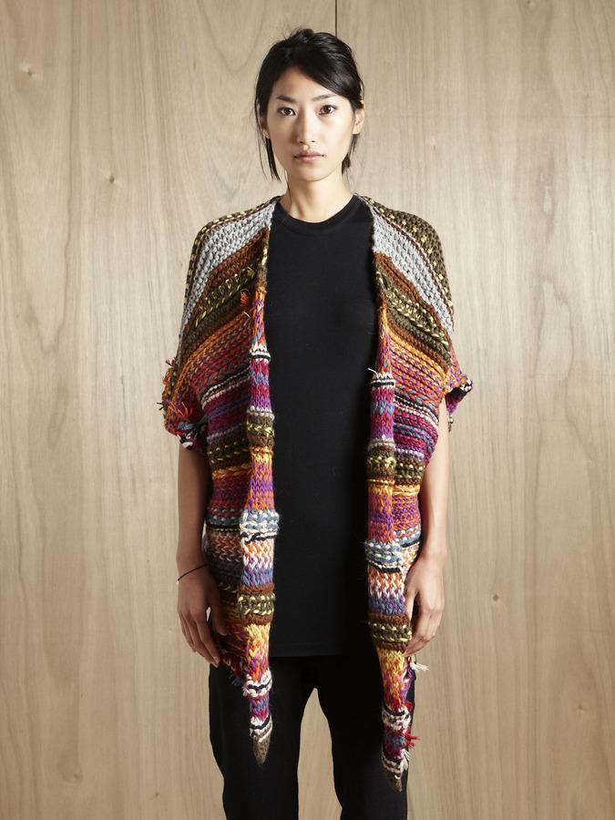 Suno Women's Chunky Hand-Knitted Jacket