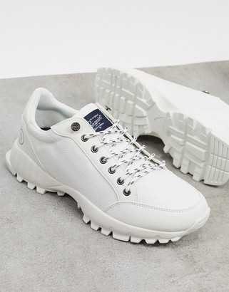 Original Penguin hiker chunky sole sneakers in off