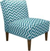 Skyline Furniture Armless Chair in Zig Zag