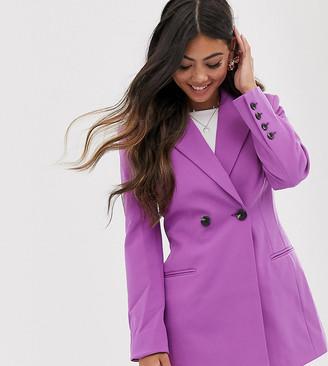 Asos DESIGN Petite suit blazer in gen me lilac-Purple