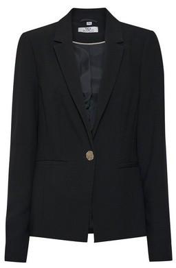 Dorothy Perkins Womens Tall Black Gold Button Blazer, Black