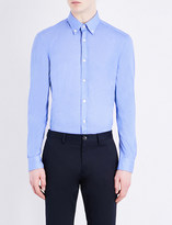 HUGO BOSS Button-down cotton-jersey shirt
