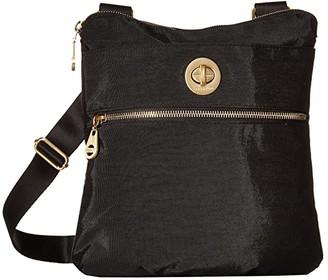 Baggallini International Gold Hanover Crossbody (Black) Cross Body Handbags
