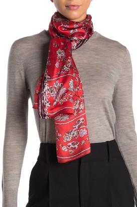 Max Studio Floral Garland Oblong Silk Scarf