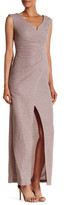 Marina Shimmer Wrap Gown