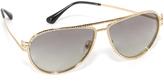 Versace Greca Strass Aviator Sunglasses